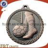 Medalla antigua del balón de fútbol de cobrizado con el borde del corte del diamante de Untique