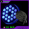 Impermeable al aire libre PAR LED 18PCS * 18W IP65 LED Rgbwauv