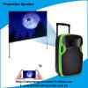 Fachmann 12 Zoll bewegliche aktive Lautsprecher-mit LED-Projektor