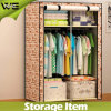 Armoire dobro simples de dobramento do Wardrobe da mobília do quarto da tela
