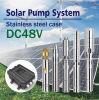 Der Gleichstrom-48V Solarfluß 1.8t/H wasser-Pumpen-Energie-120W des Kopf-16m