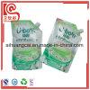 Bolso plástico modificado para requisitos particulares de la botella de la boquilla del líquido de lavado de la dimensión de una variable