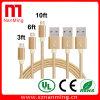 Hochgeschwindigkeitsnylonlegierungs-Verbinder-Telefon USB-Ladung-Übertragungs-Daten-Kabel