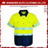 Camisas verdes fluorescentes do trabalho da segurança reflexivas (ELTHVSI-12)