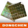 新しいデザイン試供品の熱い押す3D金ホログラムのステッカー