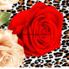 100%Polyester леопард Rose Pigment&Disperse напечатал ткань для комплекта постельных принадлежностей