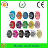 Montre colorée de femmes de silicone avec la foreuse d'ensemble (SY-GB-122)