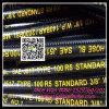 Boyau hydraulique tressé en caoutchouc SAE R5 de coton résistant de pétrole de fabrication de la Chine