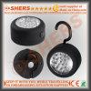 Ronda 24 LED del trabajo magnético con gancho de colgar Integral