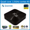 Quarte Core 4.4 Smart TV Box Zoomtak K5 Aml S805 Quad Core Android 4.4 avec Full Loaded Xbmc13.2 Gotham Pre-Installed 1080P Full HD Media Player