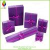Rectángulo determinado de imprenta de la joyería púrpura noble del papel