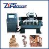 Grabador del CNC con la máquina rotatoria del eje