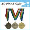 De in het groot Medaille van Sporten met het Afgedrukte Lint van 4 Kleuren