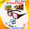 Rotes Black Double ABS Frame Solid Lens Plastic Passive Circular Polarized 3D Movie Glasses für Passive System Cinema und Passive Polarized Fernsehapparat