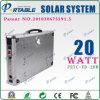 портативная солнечная домашняя электрическая система 20W для освещения/вентилятора/TV (PETC-FD-20W)