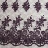 Projetos lustrosos do bordado do engranzamento de Modena com tela composta do fio da corda e de poliéster à saia de Ladys