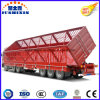 반 60t 세 배 차축 옆 쓰레기꾼 또는 덤프 말뚝 트럭 트레일러 또는 세미트레일러