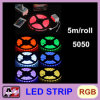 La luz de tira impermeable de la alta calidad 5050 LED 5 mide 300 LED RGB