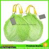 PU-Griff-Firmenzeichen-Drucken-Baumwoll-Polyester-Netz-Ineinander greifen-Einkaufstasche