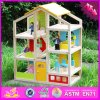 2016 hölzernes Kind-Puppe-Großhandelshaus, DIY hölzernes Kind-Puppe-Haus, das meiste populäre hölzerne Kind-Puppe-Haus W06A155