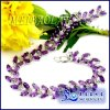 18K Gold Natural Amethyst Excellent Bracelet