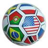 Bola de futebol / bola de promoção, impressão de bandeira, tampa de PVC, 32 painéis, máquina de musculação (B01330)
