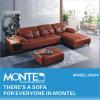 本革のコーナーのソファーセット、現代家具のソファーデザイン