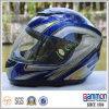 美しい輝やきの青い太字のオートバイのヘルメット(FL101)