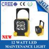 12W inundación magnética recargable portable del punto ligero del trabajo del CREE LED