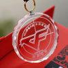 Mini médaille et médaillon en verre personnalisés par récompense en cristal ronde faite sur commande