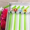Fabrikant van Decoratie van de Bloem van het Glas van het Stro van het Glas van het Vaatwerk van het Restaurant van de Staaf van het Huis van Pasen de Met de hand gemaakte Groene Gekleurde Gebogen
