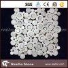 Suelo del mosaico de Bianco Carrara de la dimensión de una variable de la flor