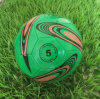 緑のサイズ5のフットボールPVCサッカー