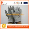 les gants de fibres de verre de 13G Hppe avec le PVC mélangé en nylon de noir de Spandex pointille Dcr212