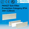 Micro Fiber Non-Woven Filter Mat (FK6627)를 가진 큰 Power Axial Fan Ultra-Thin IP54 Class Exit Filter