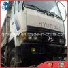 2003~2006 camion à benne basculante utilisé manuel de la Blanc-Peinture 6*4-LHD-Drive par 15ton/6~8cbm Hyundai de Plat-Crémaillère-Conteneur
