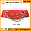 Повелительниц способа изготовления пояса пояс красных широких эластичный для платья с цепями