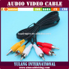 3RCA-3RCA Cable (Audio en videokabel) voor TV en STB