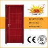 Precio más bajo rasante dormitorio de madera de teca Puertas Interiores (SC-W033)