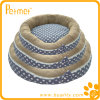 Oblong impresso Pet Bed com Removable Cushion (PT13101)