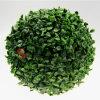 美しい庭のプラスチック草の人工的な緑の球の塀