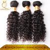 Tessuto più spesso dei capelli, estensione riccia crespa dei capelli umani, capelli umani indiani non trattati (FDX-SM-2016-5)