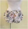 Pyjama-Dametrouser Pants Jean Chiffon sehnt sich beiläufiges Knit-Kind-Breiten-Bein Soem-Hose-Hosen-Chiffon- niedrige Taillen-Freizeit-Kurzschlüsse Folwer Slouchy lockere Beutel