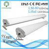 Polvo/humedad/luz del tubo de la Tri-Prueba LED del aluminio 600m m de la prueba del agua