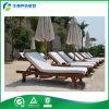 차 Tray (FY-002CB)를 가진 인도네시아 Teak 안뜰 Furniture Lounger