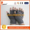 Gants noirs tricotés de PVC (DKP517)