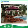Muebles del jardín de la teca, muebles al aire libre - ocioso curvado de Sun (FY-007CB)