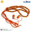 bon écouteur en bois de câble de tirette de collier tressé par RoHS de la CE de qualité sonore de mode