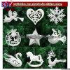 Ornamenti leggiadramente delle decorazioni della Santa del fiocco di neve delle bagattelle Pendant dell'albero di Natale (CH8103)