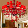 Rotes Color Candle Lights Crystal Chandelier Light mit Shade